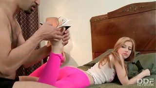 DDFNetwork – Abigaile Johnson doing footjob